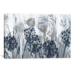Indigo Field Canvas Art Print