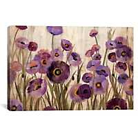 Pink and Purple Flowers Canvas Art Print