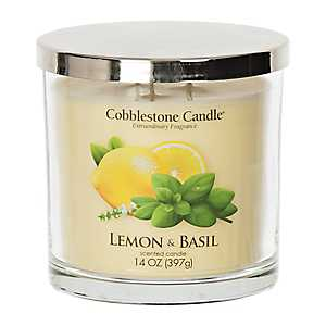 Lemon and Basil Jar Candle