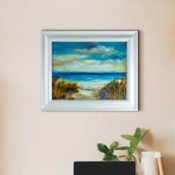 Oceanside Beach Framed Art Print