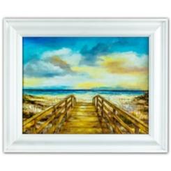 Walk to the Beach Framed Art Print