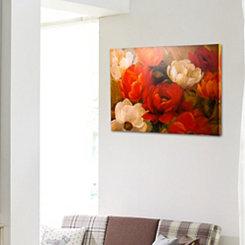 Impressionism Peony Flowers Canvas Art Print