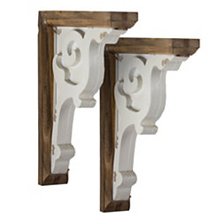 Two-Tone Corbel Shelf Brackets, Set of 2