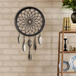 Metal Dreamcatcher Wheel with Feathers