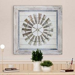 Whitewashed Windmill Shiplap Framed Art Print