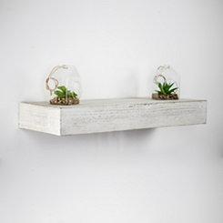 Whitewashed Wood Floating Shelf, 24 in.
