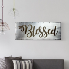 Blessed Studded Metal Wall Plaque