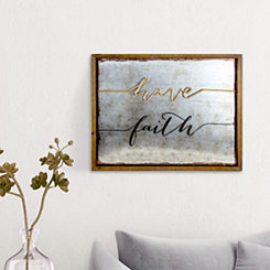 Have Faith 3D Wood and Metal Framed Wall Plaque
