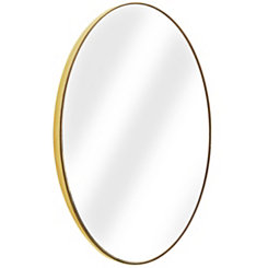 Gold Oval Infinity Frameless Wall Mirror