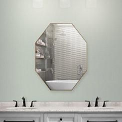Gold Octagon Infinity Frameless Wall Mirror