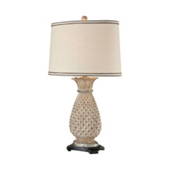 Stone Pineapple Table Lamp