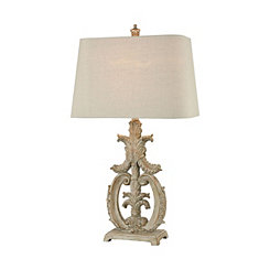 Parisian Stone Scroll Table Lamp