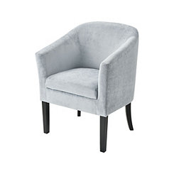 Lilian Light Blue Velvet Accent Chair