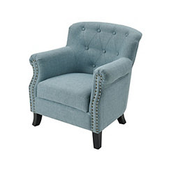 Diamond Tufted with Nailhead Trim Sea Foam Chair