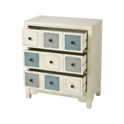 Viola 3-Drawer Apothecary Antique White Chest