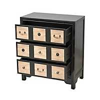Viola 3-Drawer Apothecary Distressed Black Chest