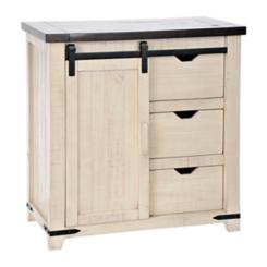 Franklin White Sliding Door Cabinet