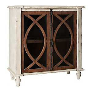 Shelby Dark Wood Antique Hardware Cabinet