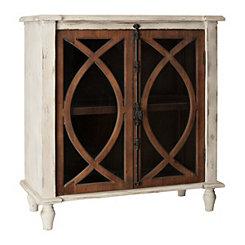 Shelby Dark Wood Antique Hardware Cabinet