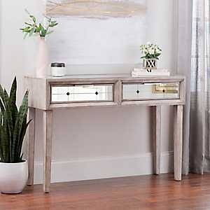 Elsa Mirrored Console Table