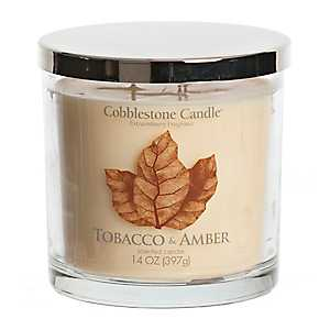 Tobacco and Amber Jar Candle