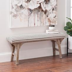 Rosie Shimmer Stripe Wooden Bench