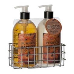 Pumpkin Harvest Soap and Lotion Caddy, Set of 2