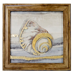 Seashells I Metallic Printed Glass Framed Print