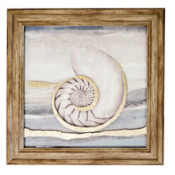 Seashells II Metallic Printed Glass Framed Print