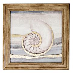 Seashells II Metallic Printed Glass Framed Print