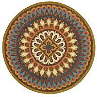 Darla Floral Medallion Round Area Rug, 4 ft.