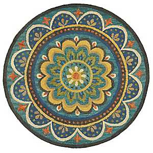 Darla Blooming Medallion Round Area Rug, 4 ft.