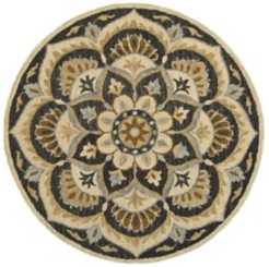 Neutral Blooming Medallion Area Rug, 4 ft.