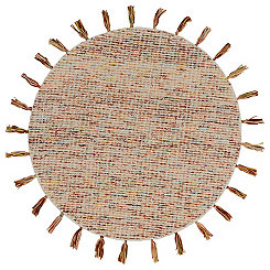 Autumn Woven Tassel Round Area Rug, 4 ft.