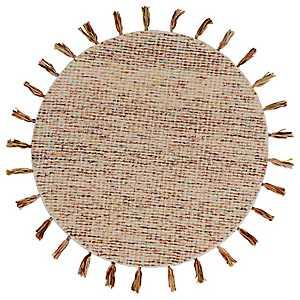 Autumn Woven Tassel Round Area Rug, 6 ft.