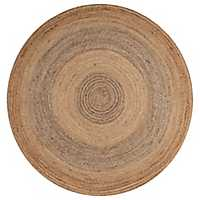 Jute Concentric Circle Round Area Rug, 6 ft.