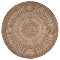 Jute Braided Round Area Rug, 4 ft.