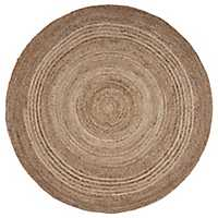 Jute Braided Round Area Rug, 6 ft.