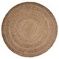 Natural Jute Round Area Rug, 6 ft.