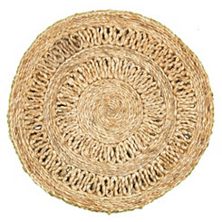 Jute Rotary Placemats, Set of 2