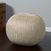 Gold Knit Frankie Pouf
