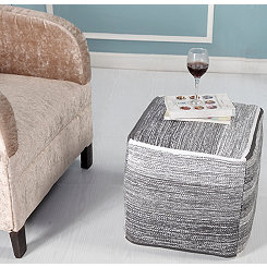 Distressed Pinson Cube Pouf