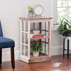 Windowpane Two-Tier Shelf