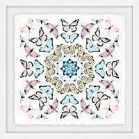 Kaleidoscope Butterflies Framed Art Print