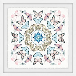 Kaleidoscope Butterflies Framed Art Print