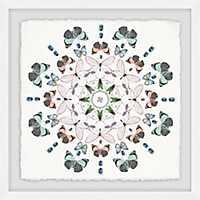 Kaleidoscope Bug Party Framed Art Print