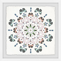 Kaleidoscope Bug Party Framed Art Print