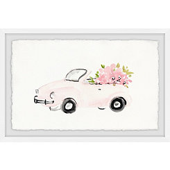 Pink Beauty Car Framed Art Print