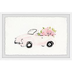 Pink Beauty Car Framed Art Print