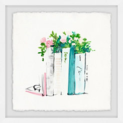 Planter Books Framed Art Print